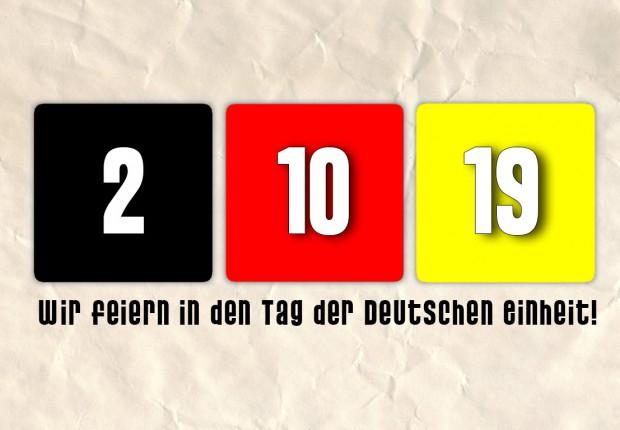 Wir feiern in den Tag der Deutschen Einheit